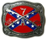 7A Confederate Belt Buckle + display stand. Code TT6